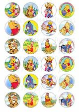 24 WINNIE THE POOH CUPCAKE TOPPER WAFER RICE EDIBLE FAIRY CAKE BUN TOPPERS