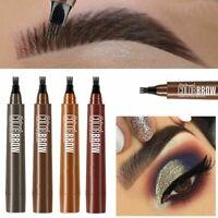 Natural 4 Point Tattoo Eyebrow Pencil Makeup Tools Eye Brow Pen Eyebrow Enhancer