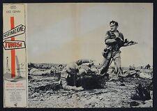 FOTOBUSTA 6, DESTINAZIONE TUNISI Steel Bayonet LEO GENN, CARRERAS WAR POSTER