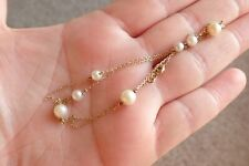 Vintage Pearl 9ct Gold. Necklace