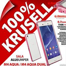 Krusell Sala alubumper Funda para Sony Xperia M4 AQUA / Dual Funda Aluminio
