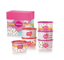 New Tupperware Blushing Pink One Touch Topper Small 6pc Gift Set