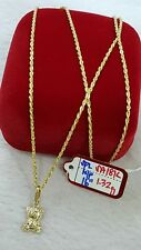 GoldNMore: 18K Gold Necklace and Pendant   16 inches