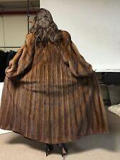 Antonovich Full Length Mink Fur Coat Female Pelt Demi Buff Size 14 16 Large