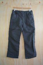 The North Face - Gray PACKABLE zip shorts NYLON pants DRAWSTRING & zip, 12 Short