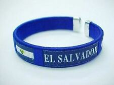 El Salvador Flag Bangle Bracelet