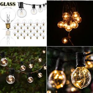 25/50/100FT Globe Patio Outdoor String Lights G40 Clear Bulbs Outdoor Waterproof