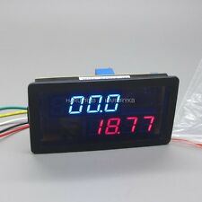 dc 500A 200V Digital LED Dual Voltmeter Ammeter Voltage Shunt 12v 24v car Solar