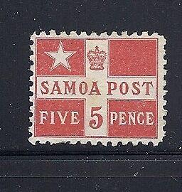 SAMOA 1894-95 FLAG Sc 23a Perf 11 UNUSED No Gum