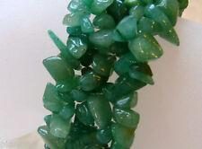 Green Aventurine Quartz Stretch Nugget Bracelet