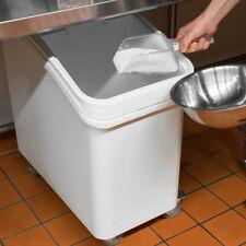 Baker's Mark 27 Gallon White Plastic Mobile NSF Ingredient Storage Bin with Lid