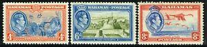 SG 158-160 BAHAMAS 1938 DEFINITIVES (4d, 6d, 8d) - MOUNTED MINT