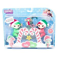 Fingerlings Christmas Collection Holly Jolly Merry Monkey New Bonus Sounds