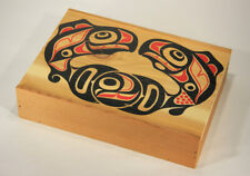 L012559 Clarence A. Wells / Canadian Artist / Northwest Coast / Wooden Box