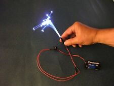 100 feet .75mm FIBER OPTIC fiber Scale model Lighting with a FREE illuminator a3