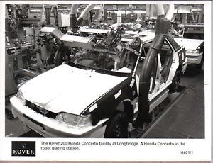 Rover 200/Honda Concerto at Longbridge original b/w Press Photograph No. 10401/1