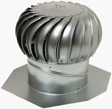 12 Whirlybird Attic Steel Wind Turbine Roof Vent Exhaust Fan Rotary Ventilator