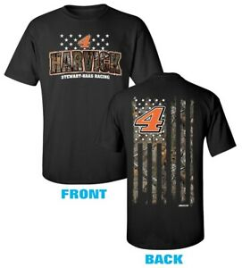 Kevin Harvick #4 American Camo T-Shirt 2021 Free Shipping Instock