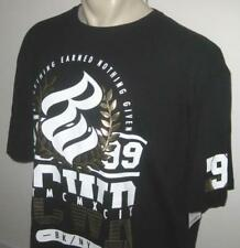 NEW 3XL ROCAWEAR MENS T SHIRT Tee Black Gold Football Short Sleeve 3X 3XB XXXL