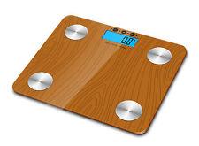 180kg Digital Body Fat Water Bone Calories BMI Analyser Glass Bathroom Scales UK