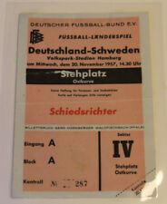 Ticket for collectors (referee) * West Germany - Sweden 1957 Hamburg