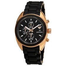 Emporio Armani AR5954 Sportivo Black Rose Gold Chronograph Mens Watch