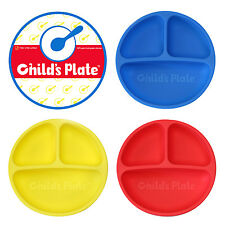 Divided Baby Plate Microwave Safe 100% Silicone FDA Certified BPA Free 3 Pack