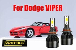 LED VIPER 1993-2000 Headlight Kit 9005 HB3 6000K White CREE Bulbs Low Beam