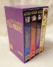 AGATHA CHRISTIE'S MISS MARPLE 4 Vhs Video Tape Box Set w/ 1 Poirot VGC