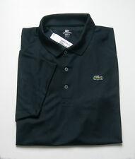 "Beau Polo Neuf noir polyester, anti-transpirant ""Lacoste-Devanlay"" - T. 5 ou L"