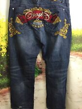 Coogi Jeans 46/36 Australia Rifle Gun Scrolling Gold Leaf Baggy Jeans