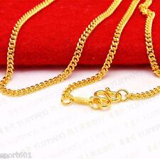 "Hot Sale 999 24K Yellow Gold Necklace Women & Men Curb Chain Link 18""L"