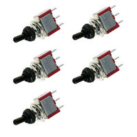 5 x On/Off/On Mini Momentary Toggle Switch Car Motor Dash SPDT Waterproof Cap