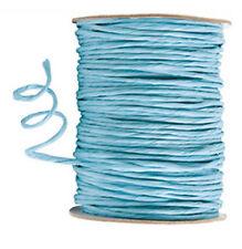 100 mètres cordon raphia laitonné bleu ciel 2.5 mm mercerie loisirs créatifs