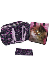 Bundle Of 2 Re-Usable Bags (1) Blue-Q Zippered Bag And (1) Heavy Duty Cat Bag