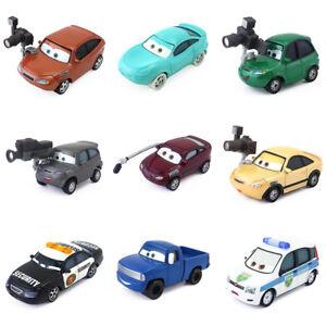 Disney Pixar Cars RSN Reporter & Racer Metal Toy Car 1:55 Diecast Loose Boy Gift
