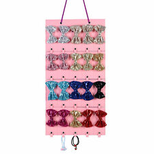 Hair Bow Clips Holder Organizer Girls Headband Storage Room Wall Hanger Gift