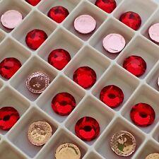 SWAROVSKI CRYSTALS HOTFIX 100x SS16 rhinestones diamantes hot fix LIGHT SIAM RED