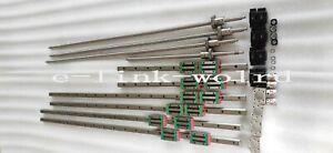 HGR20-600/2000/2500mm rail &RM2005-630/2030/2530/2530mm Ballscrew&BF15/BK15 Kit