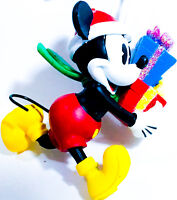 NEW! Disney Mickey Mouse Santa Claus Hat Full Sculpt Christmas Ornament Presents