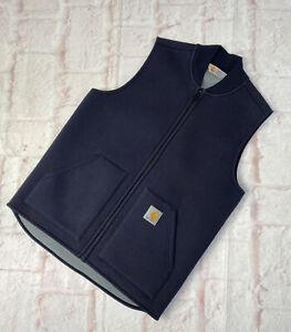 Carhartt Zip Up Vest Body Warmer Gilet Jacket Fleece Lined Mens Medium