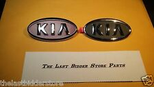 2-Kia Red & Grey Chrome Trunk Emblems Misc OEM New