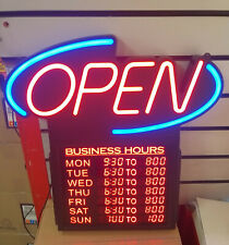 LED Open Sign with Adjustable Opening Times Very Bright Free Tracked Delivery