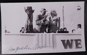 Jacqueline Cochran Signed & Roscoe Turner Cleveland 1940's Original Photo 256B