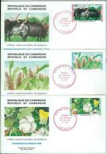 77354 - CAMEROUN - POSTAL HISTORY -  3 FDC COVER 1988 - AGRICOLTURE Cattle
