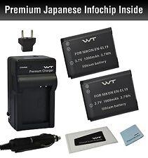 WT-ENEL19K1 GENUINE Battery(2pack)& charger for Nikon EN-EL19,MH-66,Coolpix S100