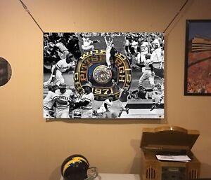 HUGE 44x31 PITTSBURGH PIRATES vinyl Banner POSTER World Series Roberto Clemente