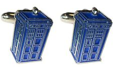 Doctor Who Tardis Time Machine Police Call Box Metal & Enamel Mens Cufflinks NEW