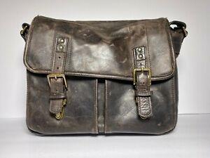 ONA Messenger Camera Bag, Antique Leather, Dark Truffle, Brixton, Leather