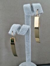 Earrings 2.25 in. Rectangle Drop Gold Plated Stainless Steel Hooks Never Tarnish